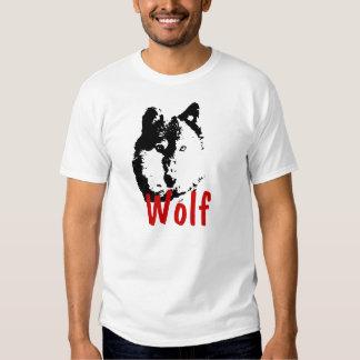 Camiseta del lobo del arte pop poleras