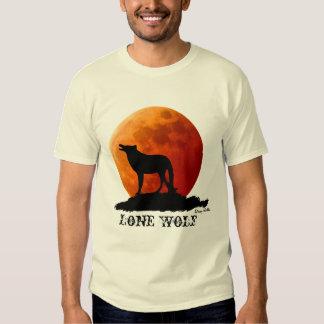 Camiseta del lobo solitario remeras