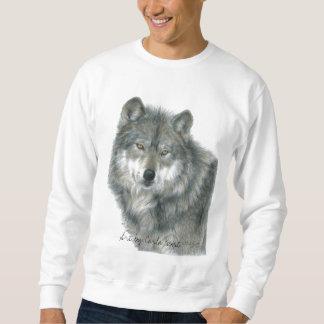 Camiseta del lobo, tamaños unisex, adultos sudaderas encapuchadas