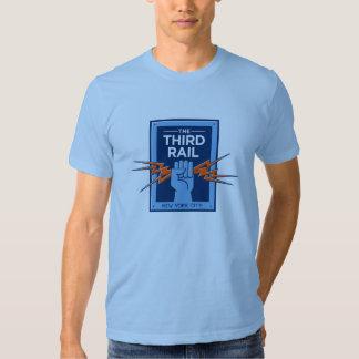 Camiseta del logotipo - azul de cielo poleras