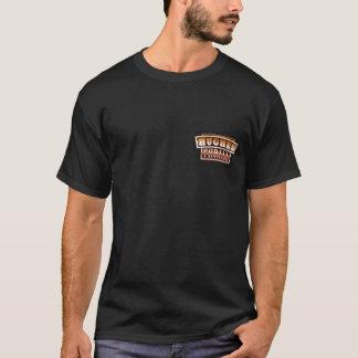 Camiseta del logotipo de Hughes/del bolsillo de la