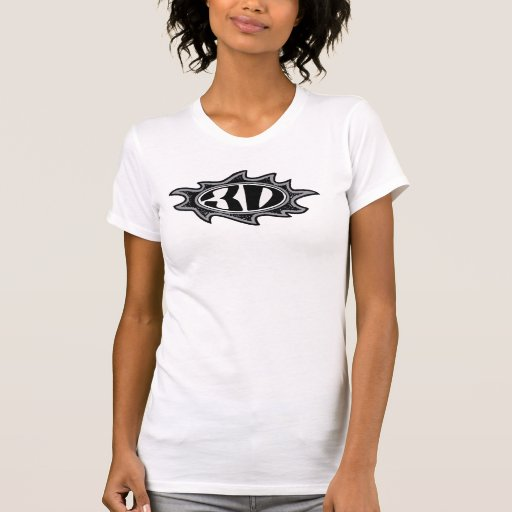camiseta del logotipo de la llama 3d