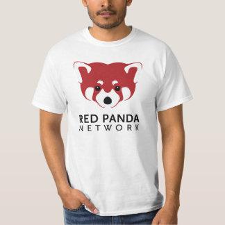 Camiseta del logotipo de la panda roja playera