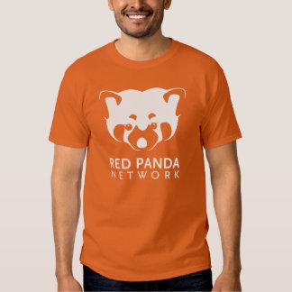 Camiseta del logotipo de la panda roja polera