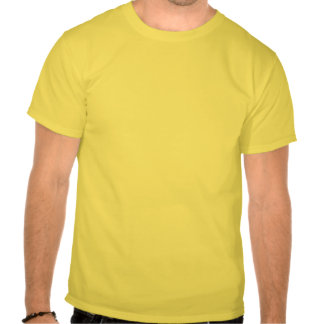 Camiseta del logotipo de la radiación del amarillo