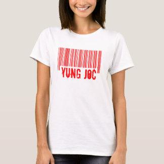 Camiseta del logotipo del código de barras de Yung