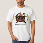 Camiseta del logotipo del color de KGB Poleras
