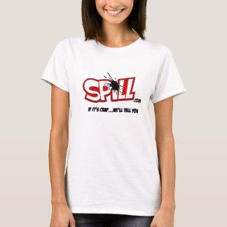 Camiseta del logotipo del derramamiento de las