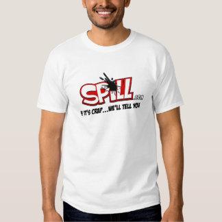 Camiseta del logotipo del derramamiento playera
