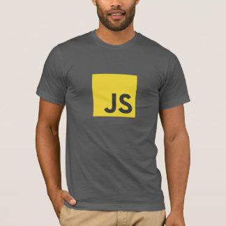 Camiseta del logotipo del Javascript (gris oscuro)