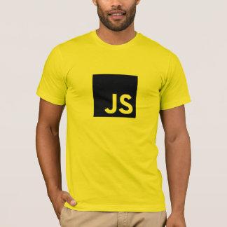 Camiseta del logotipo del Javascript (oro)