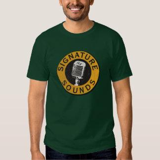 Camiseta del logotipo del sonido de la firma playera
