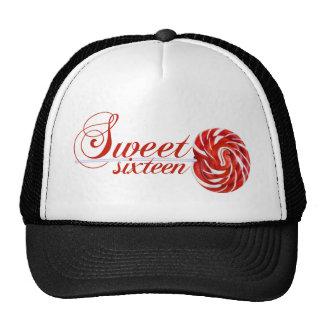 Camiseta del Lollipop del dulce dieciséis Gorro