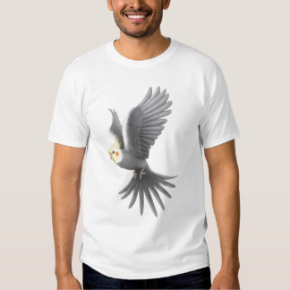Camiseta del loro del Cockatiel del vuelo Playera