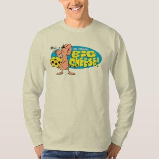 Camiseta del LS de los hombres grandes del queso Camisas