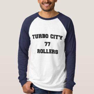 Camiseta del LS de los rodillos de la ciudad de Poleras