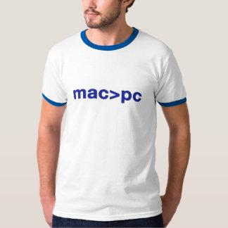 camiseta del mac > de la PC Polera