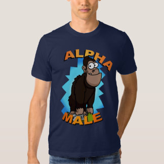 Camiseta del macho alfa polera