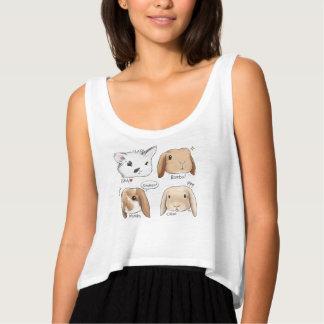 Camiseta del manojo del conejito playera de tirantes holgada