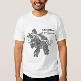 Camiseta del mapa de Amsterdam Poleras