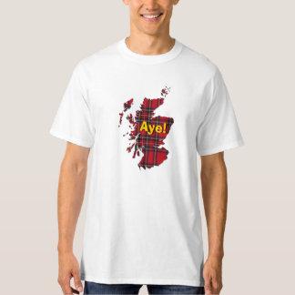 camiseta del mapa de Escocia del tartán del Polera
