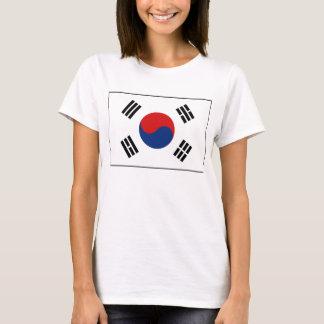 Camiseta del mapa de la bandera x de la Corea del