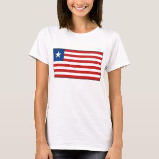 Camiseta del mapa de la bandera x de Liberia