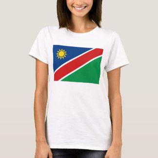 Camiseta del mapa de la bandera x de Namibia
