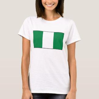 Camiseta del mapa de la bandera x de Nigeria