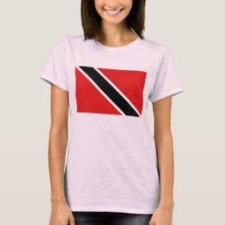 Camiseta del mapa de la bandera x de Trinidad and