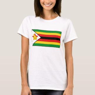 Camiseta del mapa de la bandera x de Zimbabwe