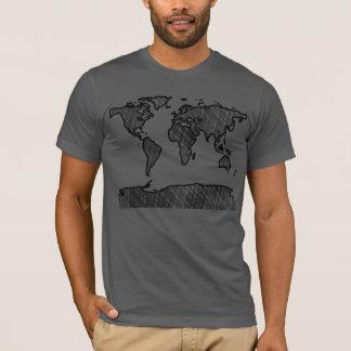 Camiseta del mapa del mundo