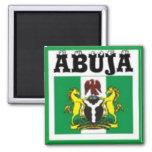 Camiseta del mapa del No1 Abuya, de Nigeria y etc Imán De Nevera