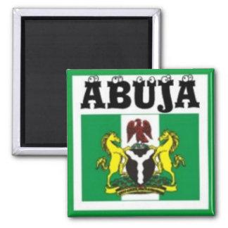 Camiseta del mapa del No1 Abuya, de Nigeria y etc Imán Cuadrado
