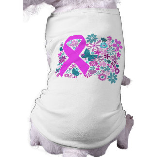 Camiseta del mascota de la conciencia del cáncer d playera sin mangas para perro