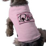 Camiseta del mascota de la diva camisas de mascota