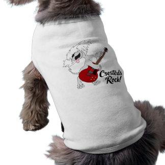 Camiseta del mascota de la roca de Cresteds Playera Sin Mangas Para Perro