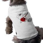 Camiseta del mascota de la roca de Cresteds Ropa De Mascota