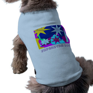 Camiseta del mascota de la superestrella camisetas de perrito