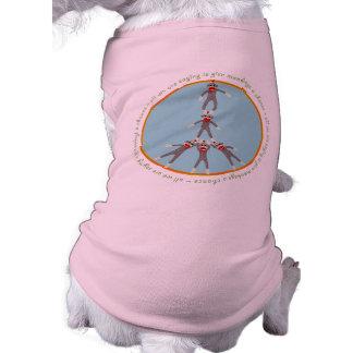 Camiseta del mascota de los monos de la paz ropa de perros