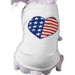Camiseta del mascota del corazón de los E.E.U.U. Camisas De Perritos