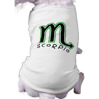 Camiseta del mascota del escorpión del zodiaco playera sin mangas para perro
