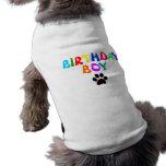 """Camiseta del mascota del muchacho del cumpleaños"" Playera Sin Mangas Para Perro"