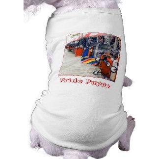 """""""Camiseta del mascota del perrito del orgullo"""" Playera Sin Mangas Para Perro"""
