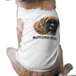 Camiseta del mascota del perro del boxeador ropa de perro