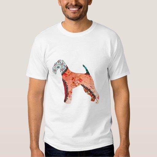 Camiseta del mascota del remiendo de Airedale Playeras