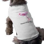 Camiseta del mascota - MARTINI ROSADO Camisetas De Mascota