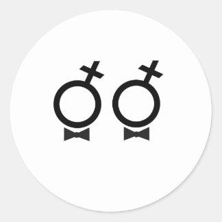 Camiseta del matrimonio homosexual etiquetas redondas