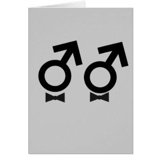 Camiseta del matrimonio homosexual tarjeta de felicitación