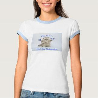 Camiseta del maullido del gatito poleras